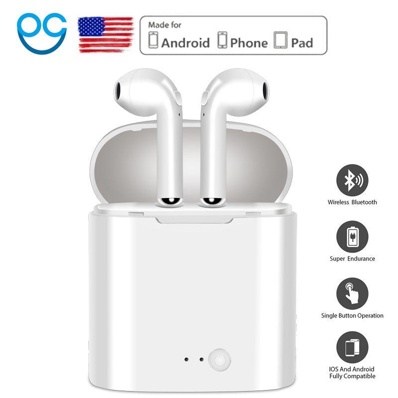 I7 Nouvelle Mini Sans Fil Bluetooth Écouteur Avec Casque De Charge Boîte Stéréo Intra-auriculaires Casque Écouteur pour iphone Android air gousses