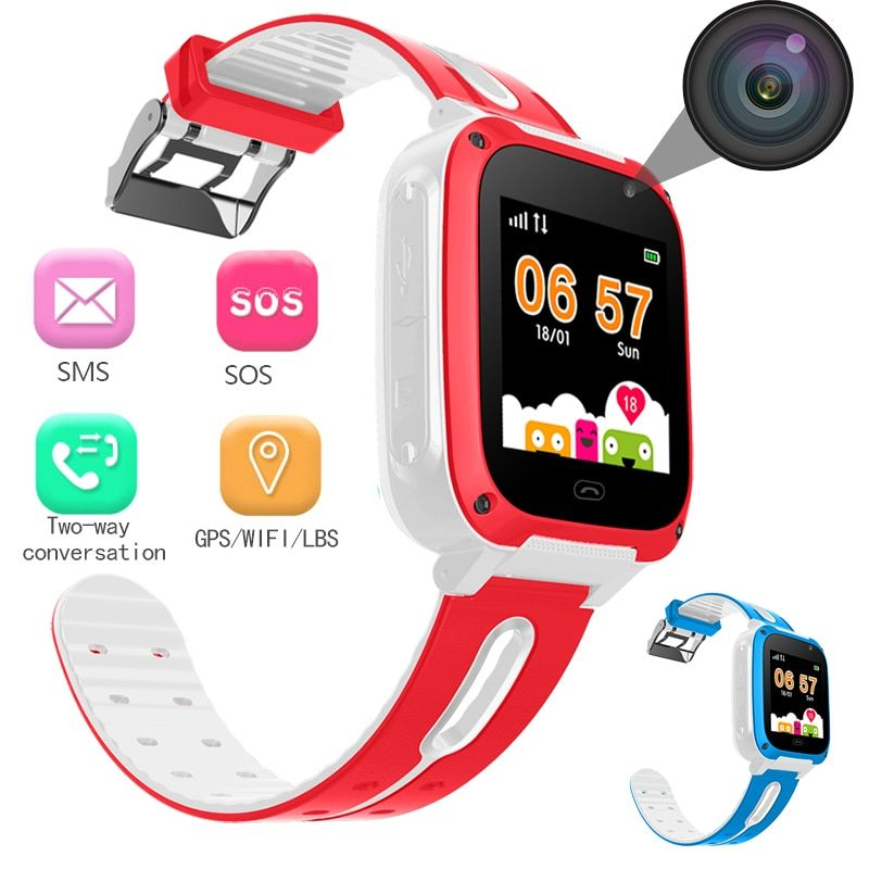 BANGWEI 2018 New Smart watch GPS Kid SmartWatches Anti Lost Baby Watch for Children SOS Call Location Finder Locator Tracker+Box