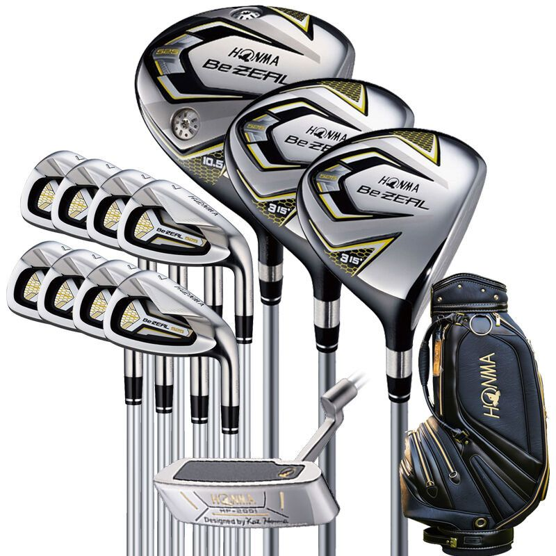 New 525 Golf Clubs HONMA BEZEAL 525 Complete Set HONMA Golf driver.wood.irons.putter Graphite Golf shaft plus bag Free shipping