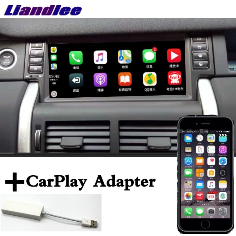 Liandlee Auto Multimedia Player NAVI CarPlay Adapter Für Land Rover Discovery Sport L550 2014 ~ 2019 Radio Bildschirm GPS Navigation