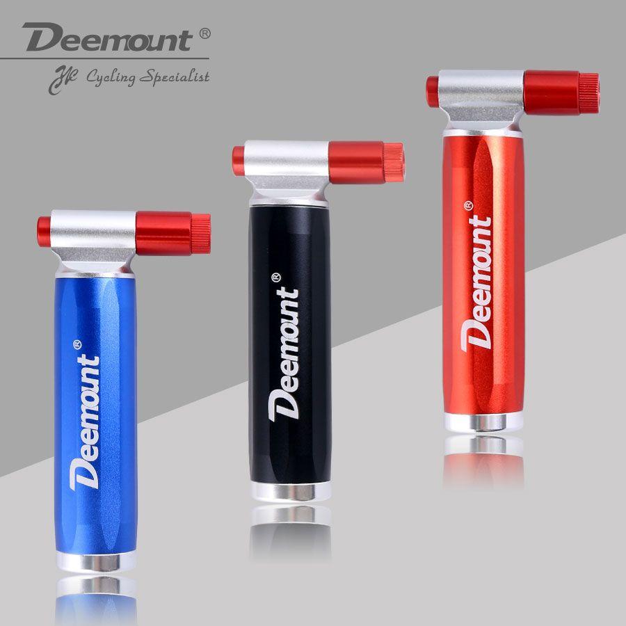 Deemount Bicycle CO2 Pump for 16 Gram Non Threaded Cartridge Bike <font><b>Tire</b></font> Ball Portable Inflator Dual Head Presta Schrader Valve