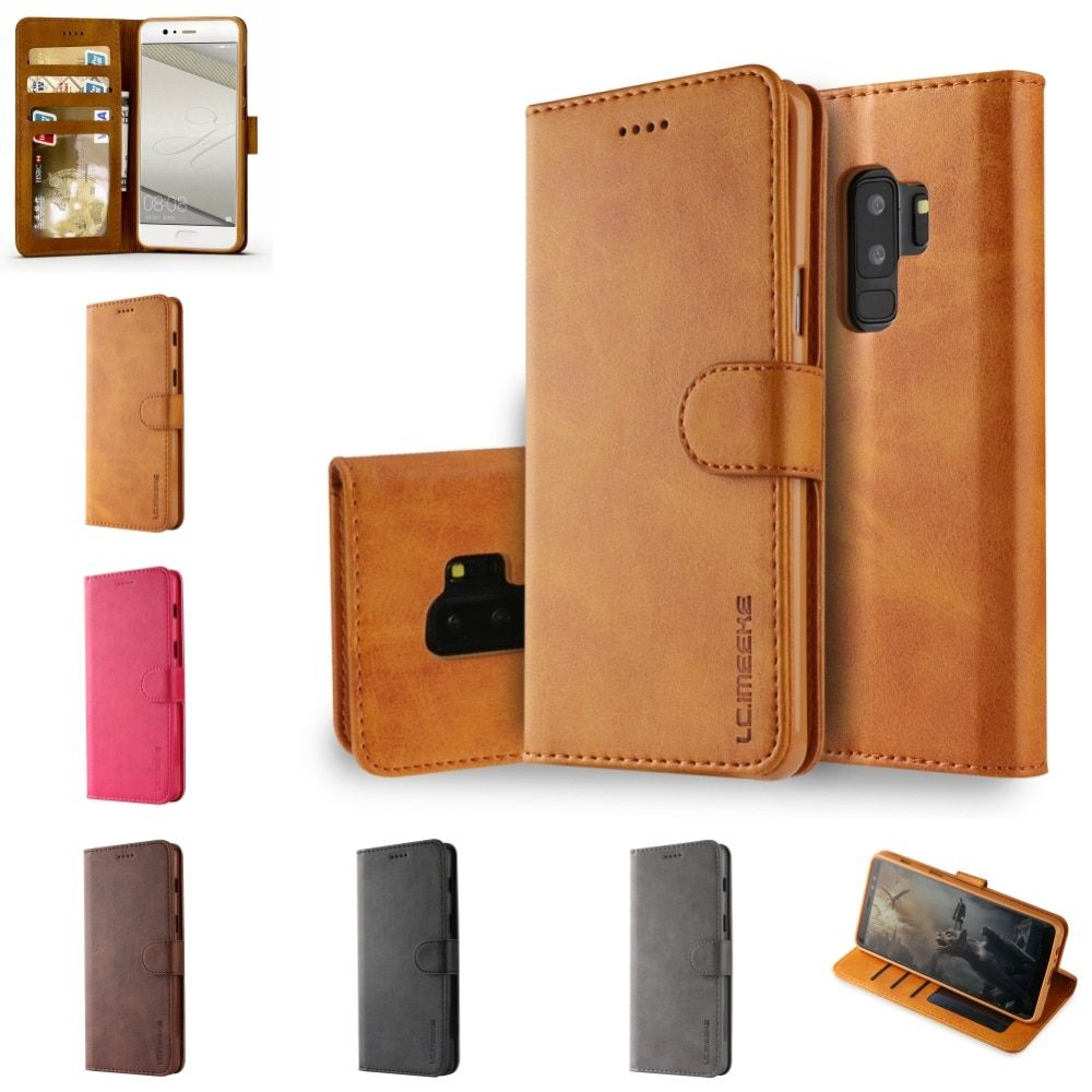 Fundas For Samsung Samsun Note 9 8 Note8 Leather Flip Book Wallet Stand Phone Case etui caso Cover For S9 S8 S 9 Plus S7 S6 Edge