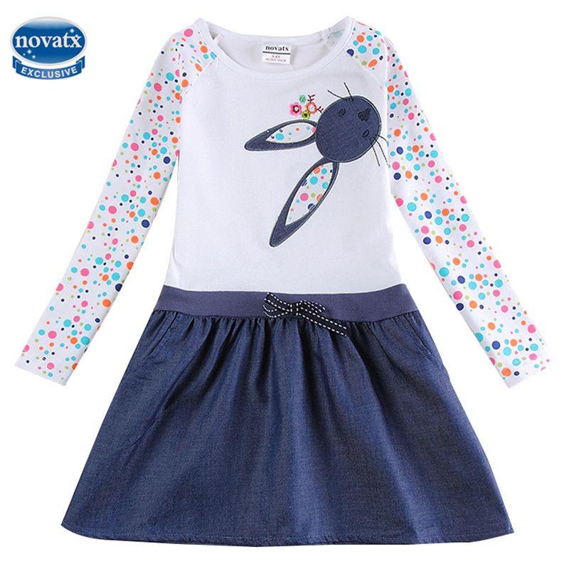 Bébé Fille Robe à manches longues enfants robes pour filles Vêtements enfants vêtements Enfants Vêtements d'hiver Partie Nova Filles Robe H5922