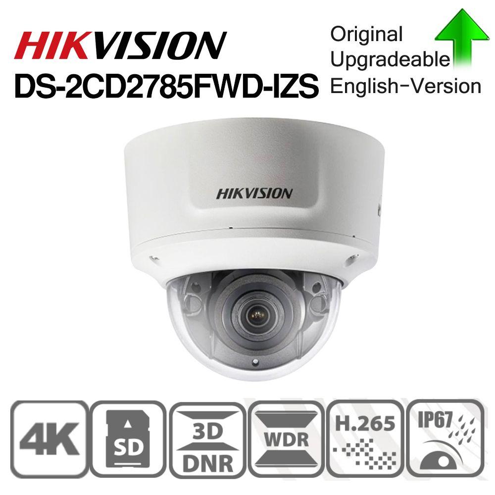 Hikvision Original DS-2CD2785FWD-IZS Dome Kamera 8MP POE CCTV Kamera 50m IR Bereich IP67 IK10 H.265 + 2,8-12mm Zoom
