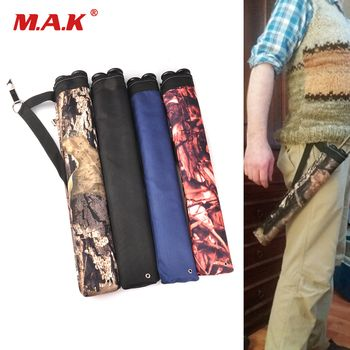 1 pc Arrow Bag 45X8.5 cm Oxford Cloth Arrow Quiver 2 Point Single Shoulder for Bow and Arrow Archery Hunting Shooting