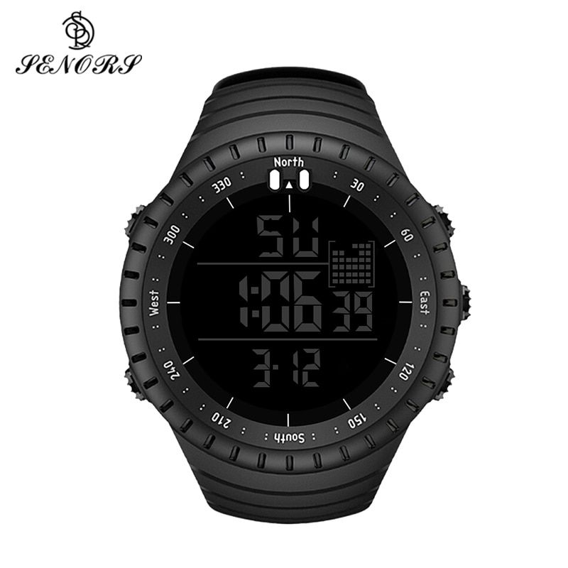 Sport Watch Men Outdoor Digital Watches LED Electronic Wristwatch Military Alarm Male Clock Relogio Masculino Digital by SENORS