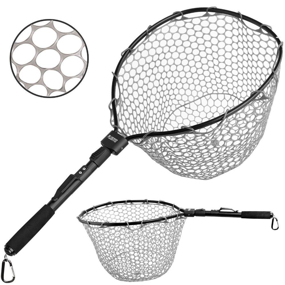 PLUSINNO Fly Fischernetz Fisch Kescher, Forelle Bass Net Weiche Gummi Mesh Fangen und Release Net