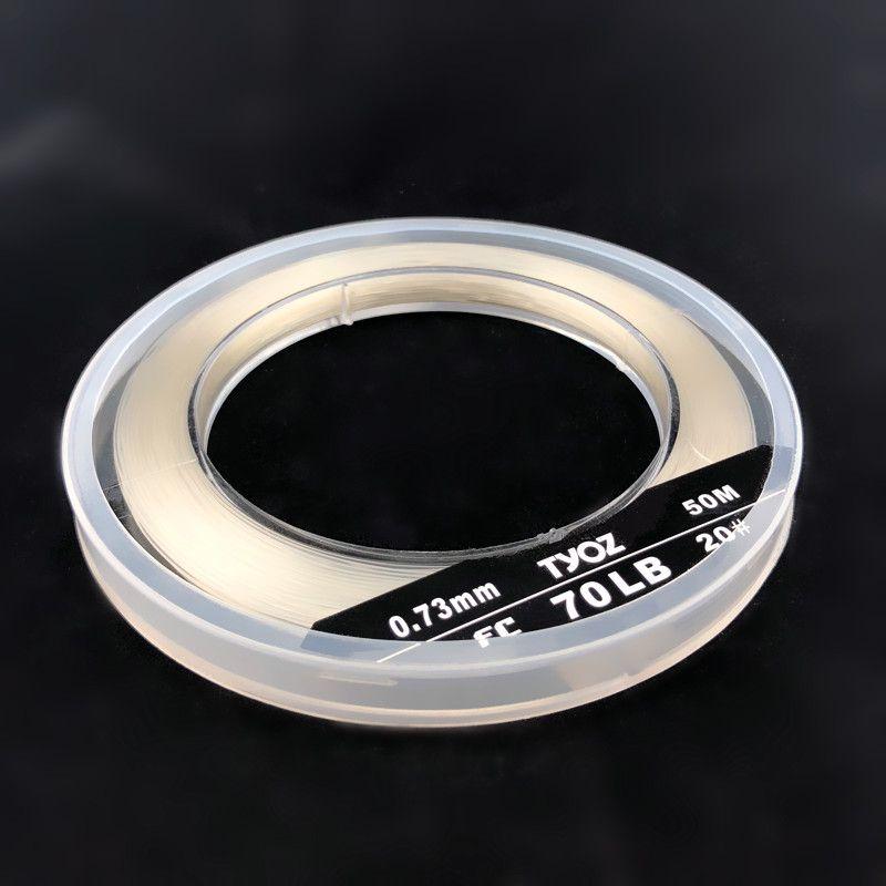 TYOZ Marke NO. 20 # 70LB 100% fluorangelschnur Kohlefaser Bezugslinie Sea Fishing Line