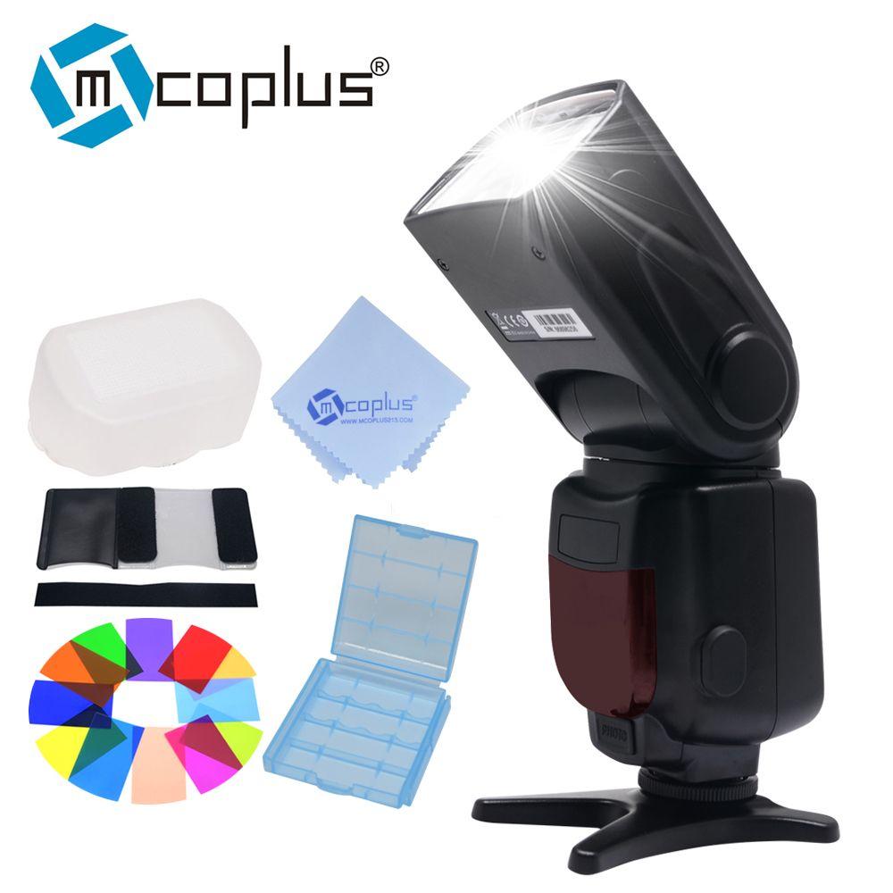 Mcoplus TR-950 LCD Flash Universal Mount Speedlite for Canon Nikon Pentax <font><b>Olympus</b></font> DSLR Camera D7100 D3100 D90 D5300 D3200 600D