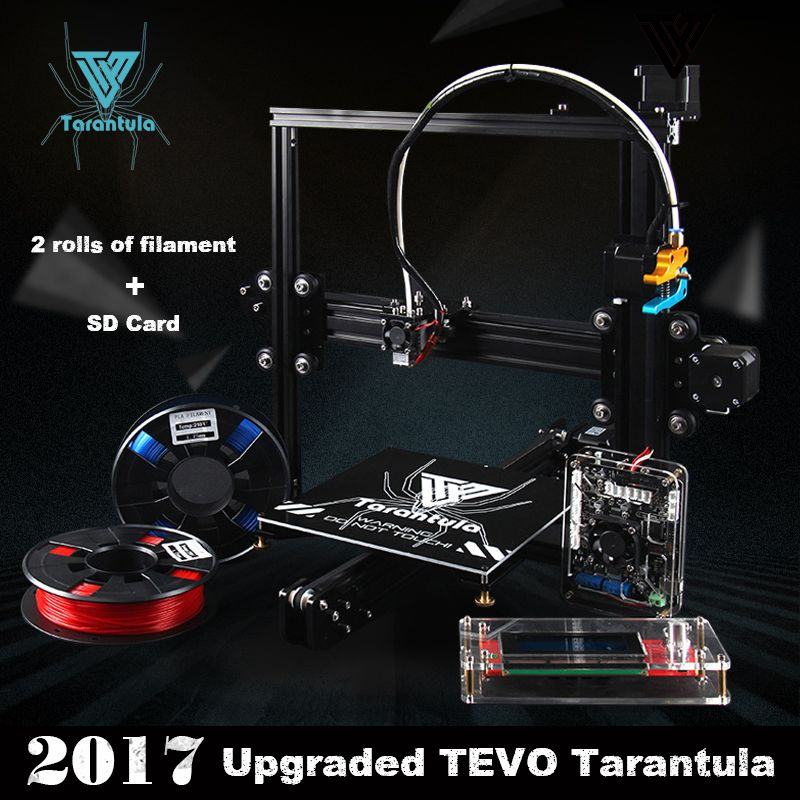 2017 Classic TEVO Tarantula I3 Aluminium Extrusion 3D Printer kit 3d printing 2 Roll Filament SD card Titan Extruder As Gift