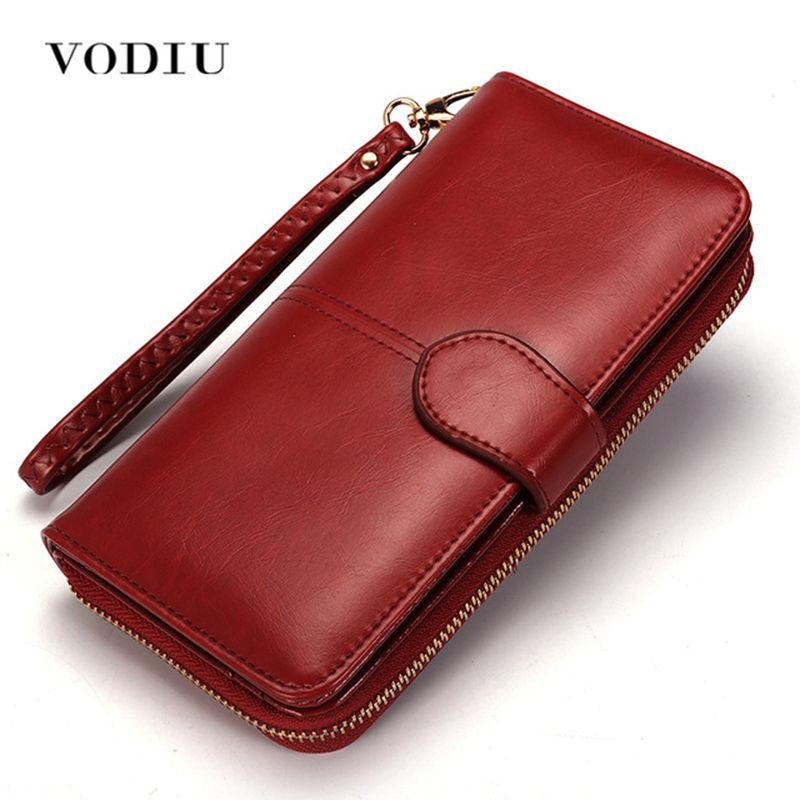 Portefeuille femme sac à main femme portefeuille en cuir Long triple porte-monnaie porte-carte argent embrayage bracelet multifonction fermeture à glissière