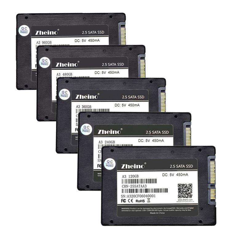 Zheino SSD SATAIII 60GB 120GB 240GB 360GB 480GB 960GB 128GB 256GB 512GB 1TB 2.5 inch 6Gbps Solid State Drives