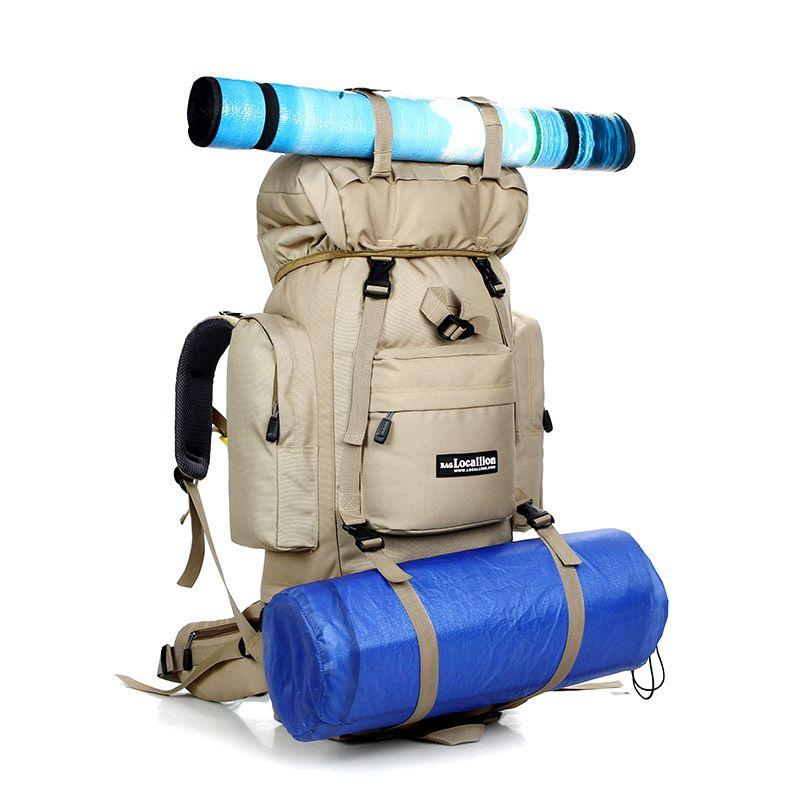 80L Große Campingbeutel Outdoor Bergsteigen Wandern Camping Tasche Sporttaschen Große Wasserdichte rucksack