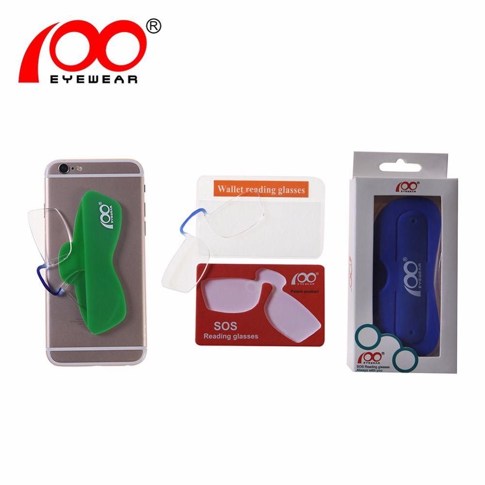 [$5 Angebote] 100 brillen Patent Nase Clip Gläser Dünne Tragbare Lesebrille Mini Brieftasche Pince Nez Optik Economy Versand