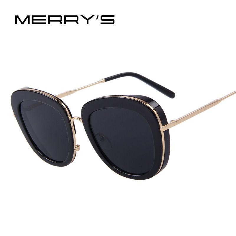 MERRY'S Fashion Women Brand Designer Retro Summer Style Steampunk Sunglasses Oculos de sol UV400