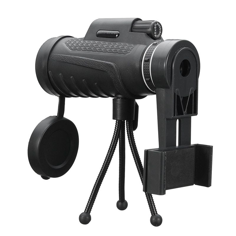 40X60 HD Zoom Lens Camping Travel Waterproof Monocular Telescope Lens + Tripod + Clip Universal for iPhone Android Mobile Phones