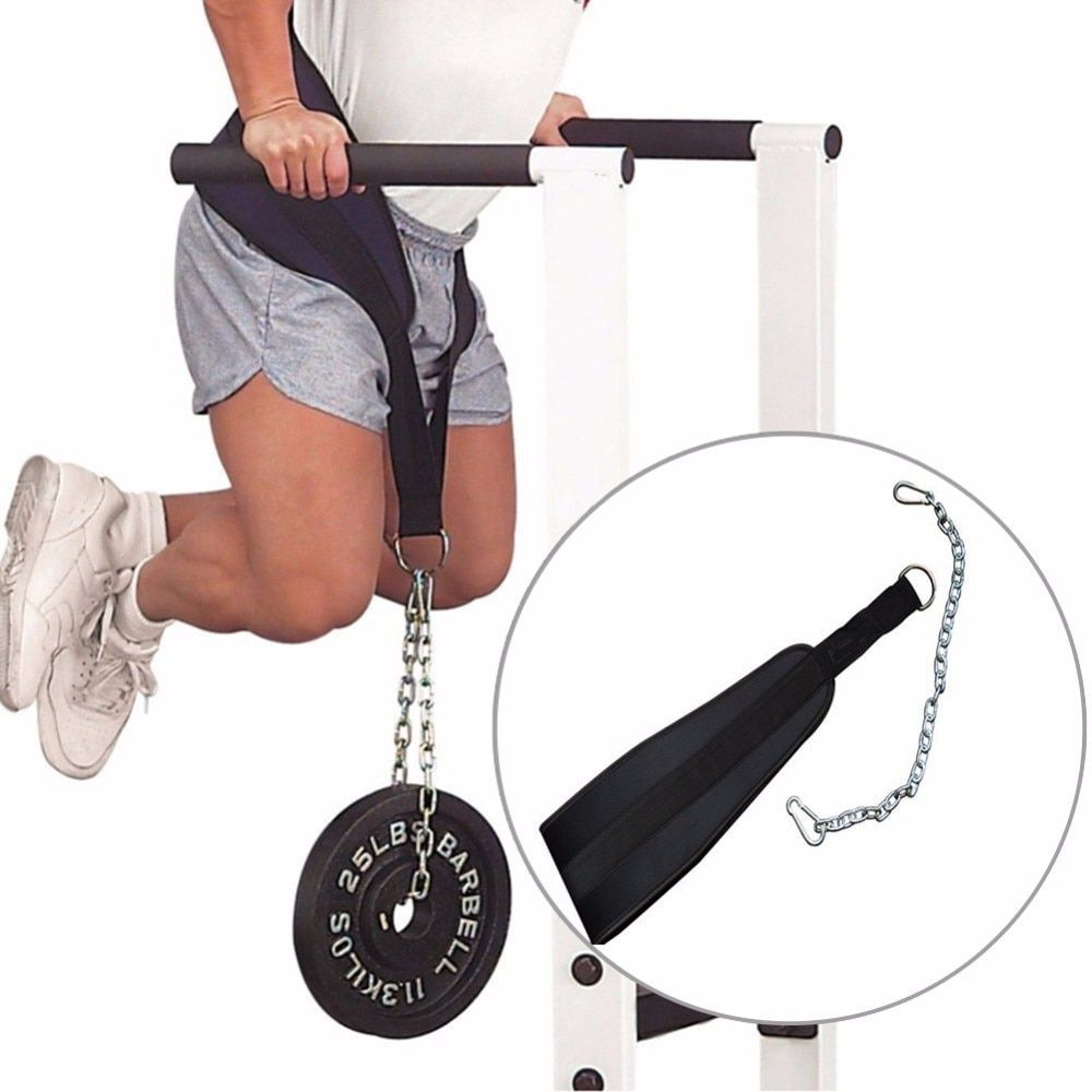 Fitness Equipment Dip Belt Weight Lifting Gym Body Waist Strength Training Power Building Dipping Chain Pull Up