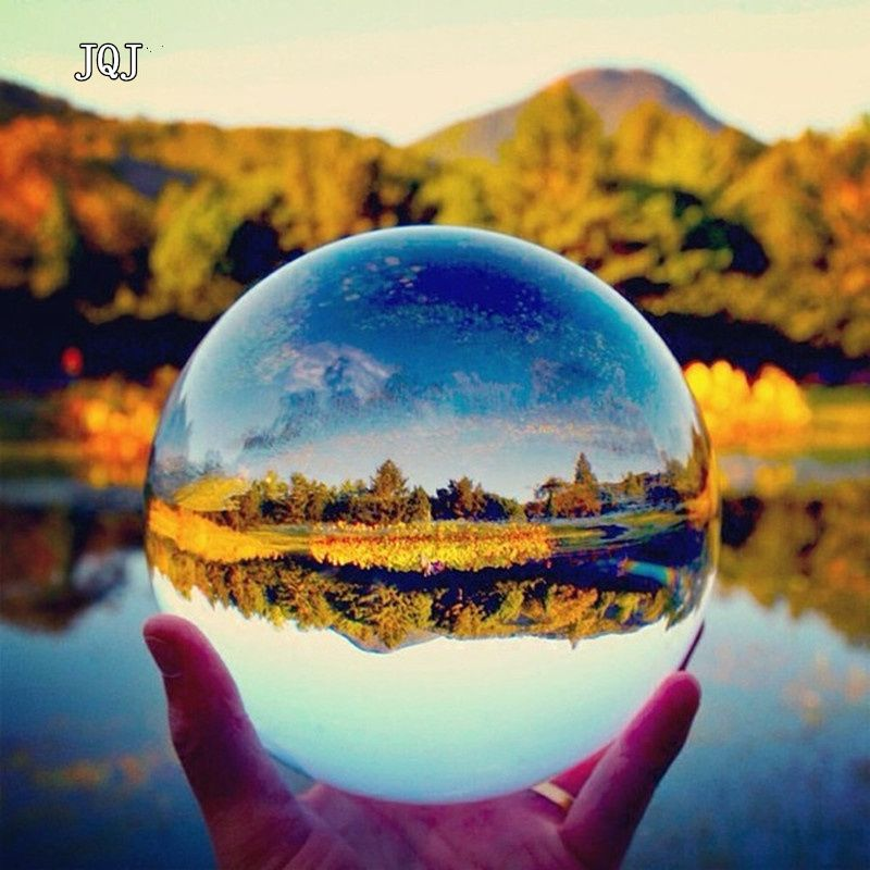 JQJ Rare Clear Large Crystal Ball Photography Asian Quartz Feng Shui Sphere fashion&gift Home Office Decoration Accessories