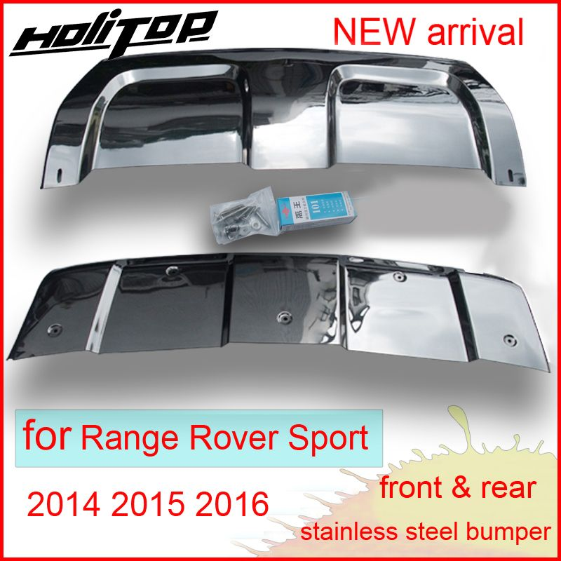 for Range Rover Sport 2014 2015 2016 stainless steel skid plate,bumper protector,2pcs,top quality supplier,special price 30days.