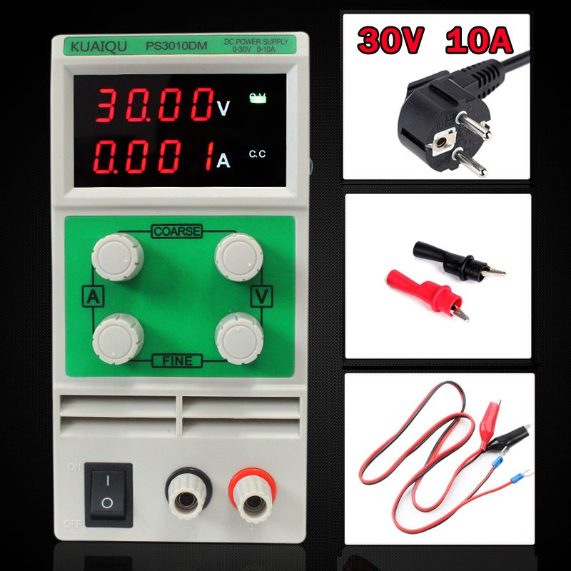 Mini Adjustable DC Power Supply,laboratory Power Supply,Digital Variable Voltage <font><b>regulator</b></font> 30V10A Four display PS3010DM