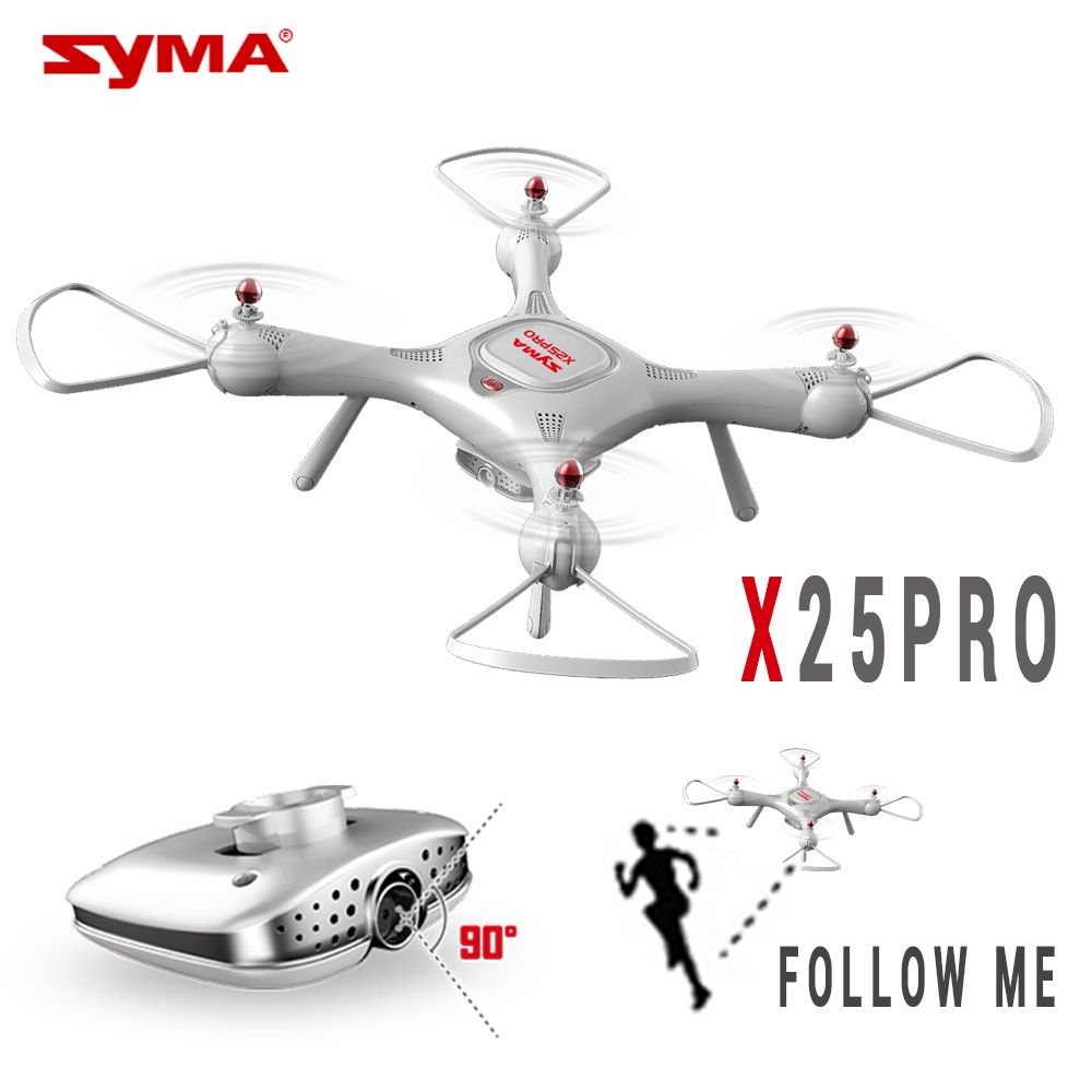 SYMA X25 PRO X25PRO GPS RC Drone Wifi FPV Adjustable 720P HD Camera Quadrocopter 2.4G 6Axis RC Helicopter VS H502S MJX BUGS 2