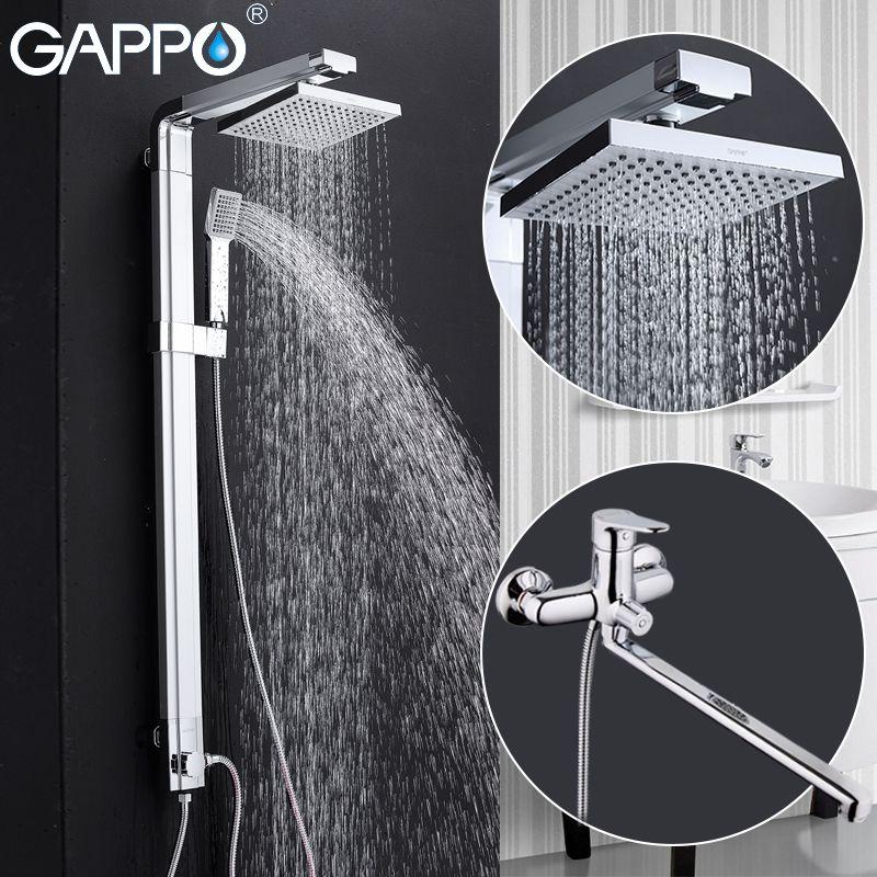 GAPPO dusche wasserhahn Bad badewanne wasserhähne dusche mischbatterie messing badewanne wasserhahn wandhalterung brausegarnitur