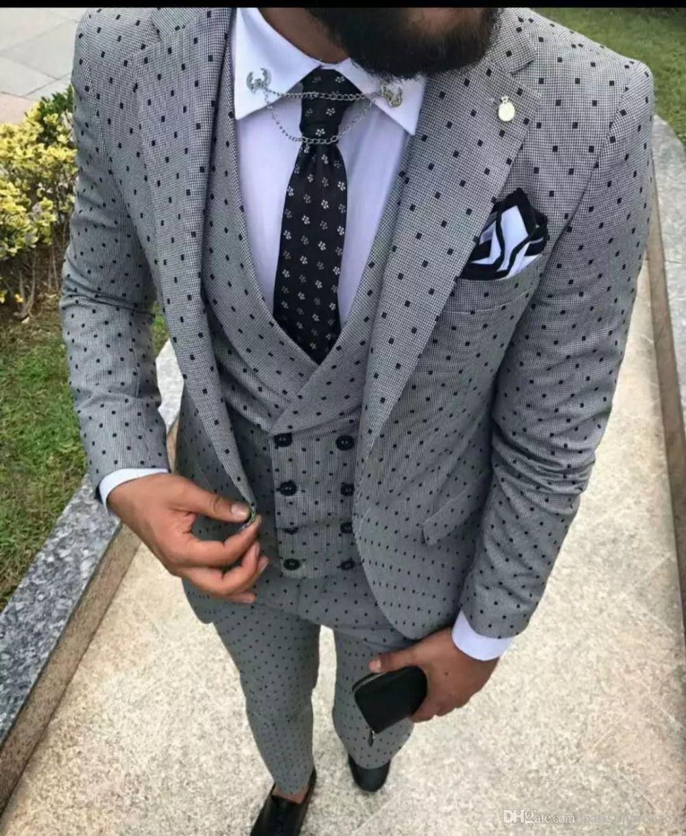 2018 New Men Wedding Suits Slim Fit 3 Pieces Tuxedo Groom Groomsman Custom men suits for wedding traje hombre jacket pant vest