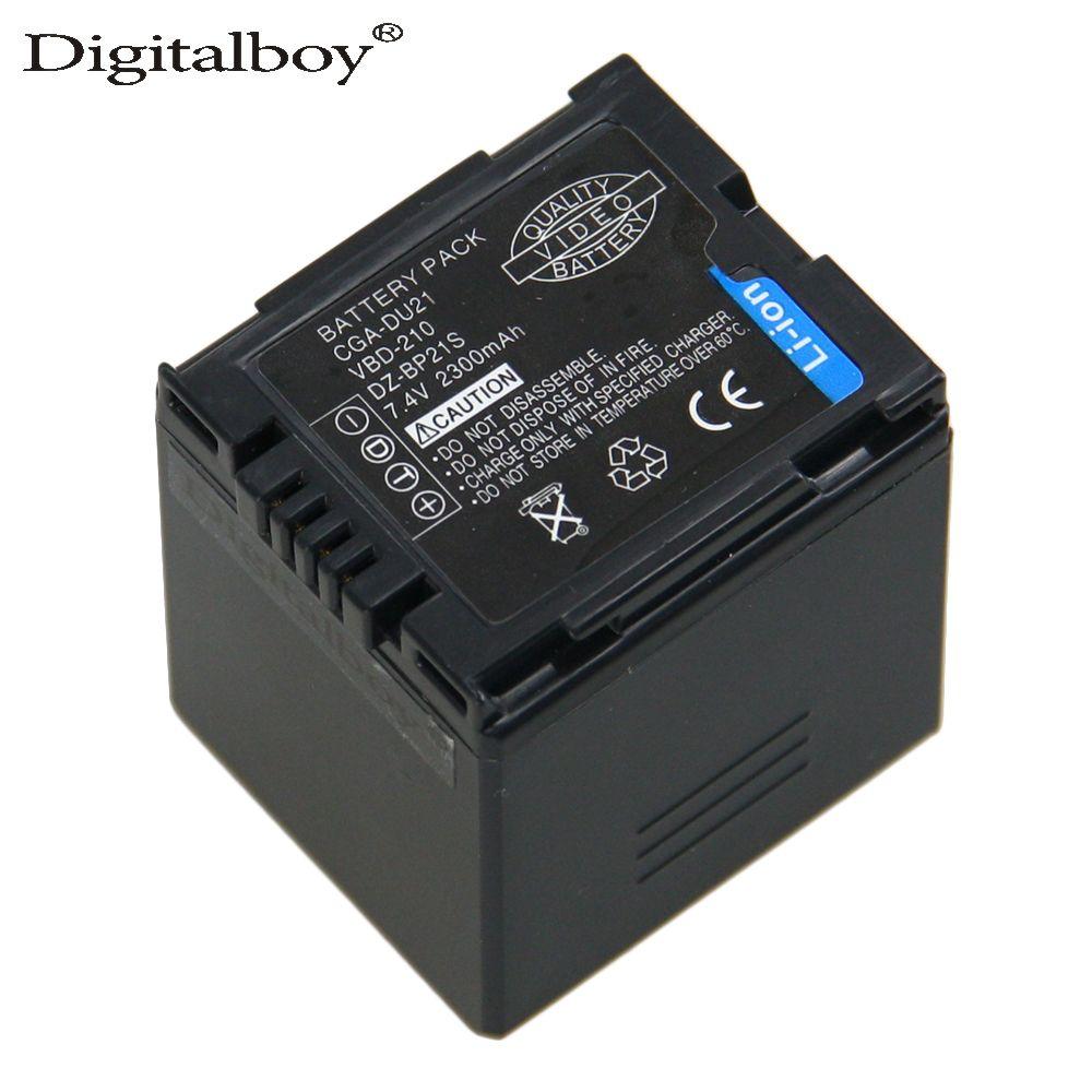 Vente 1 pcs chaude CGA-DU21 CGADU21 CGA DU21 7.4 V 2300 mah Li-ion Batterie D'appareil Photo Pour Panasonic PANASONIC CGR-DU06 CGA-DU06