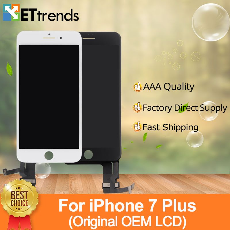 2pcs/lot Original OEM LCD Display For iPhone 7 Plus LCD Screen Touch Digitizer Glass screen Assembly 100% Tested DHL Free Ship