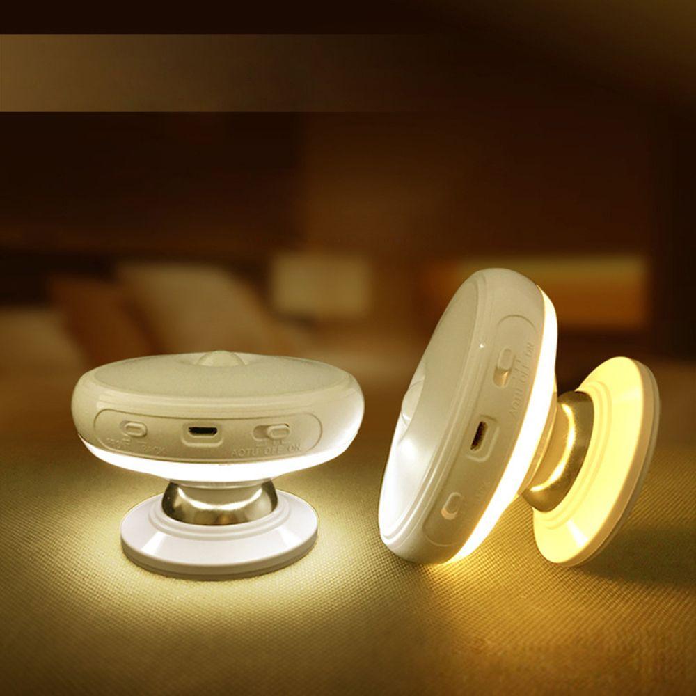 Tanbaby motion capteur de lumière 360 degrés de rotation rechargeable led night light mur de sécurité lampe pour la maison chambre escalier cuisine