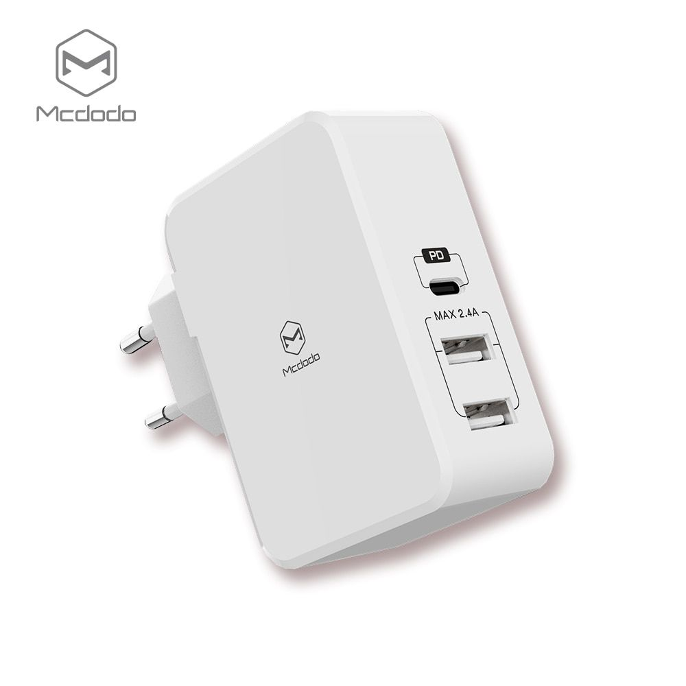 Mcdodo USB PD 29W Quick Charger for iPhone X 8 Plus Type c usb-c Charge Fast Charging Dual USB Charger for Samsung Xiaomi Huawei