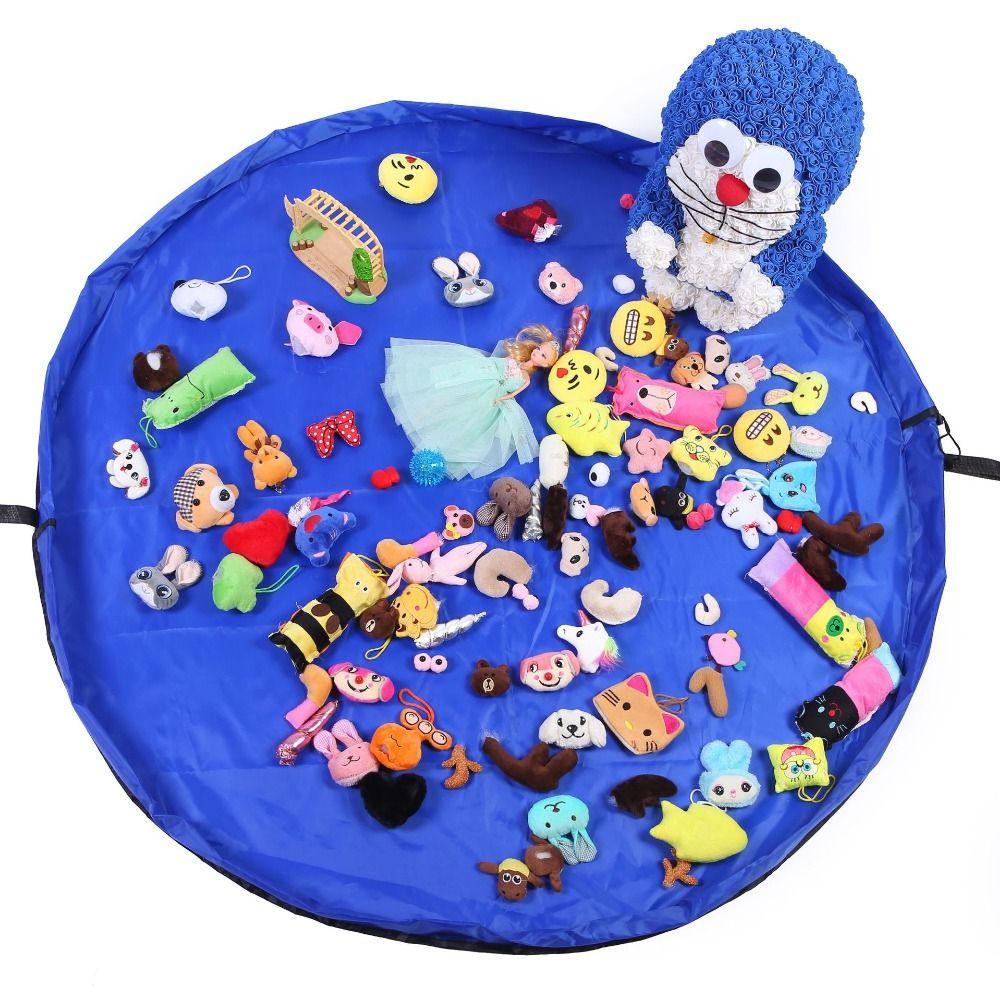2019 Hot apete Infantil Portable Kids Toy Storage Bag and Play Mat  Toys Organizer Drawstring Pouch Fashion Practical Storage