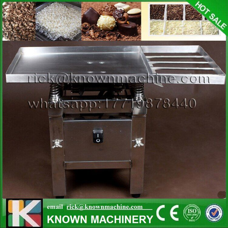 The food grade stainless steel 45W Chocolate Vibration table machine/ Chocolate tempering/melting/pouring machine free shipping