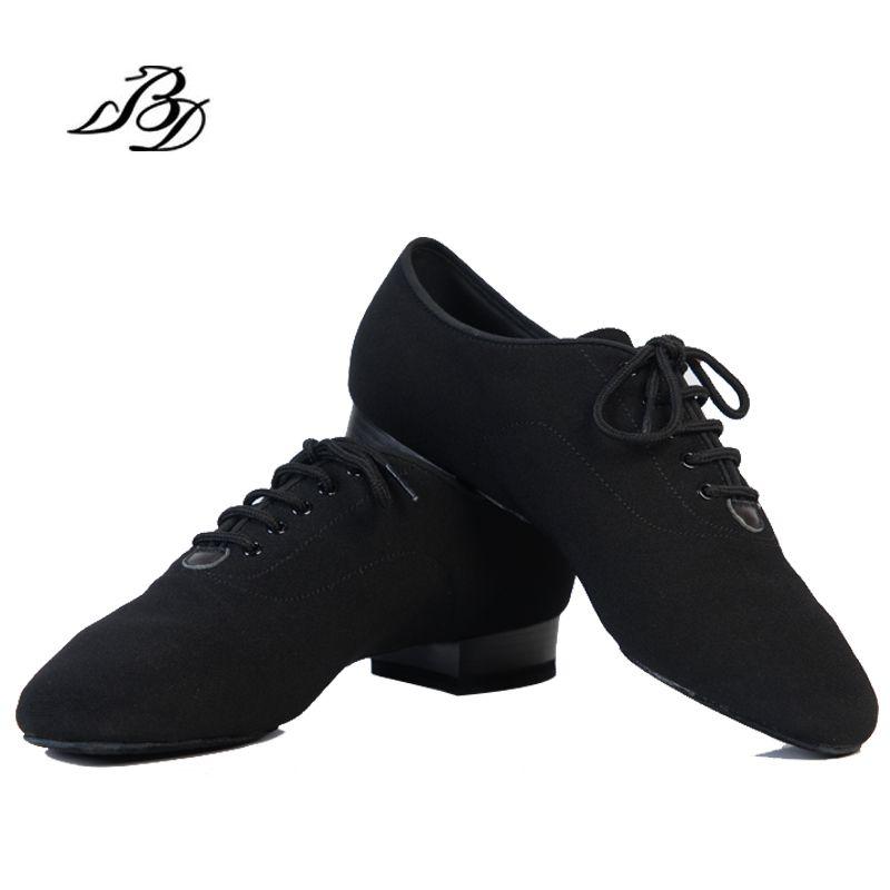 Dance Shoes Modern Men Genuine Leather Brand Square BD 309  Party Ballroom Latin shoes 317 Soft cowhide Black BD 309  2.5 CM Hot