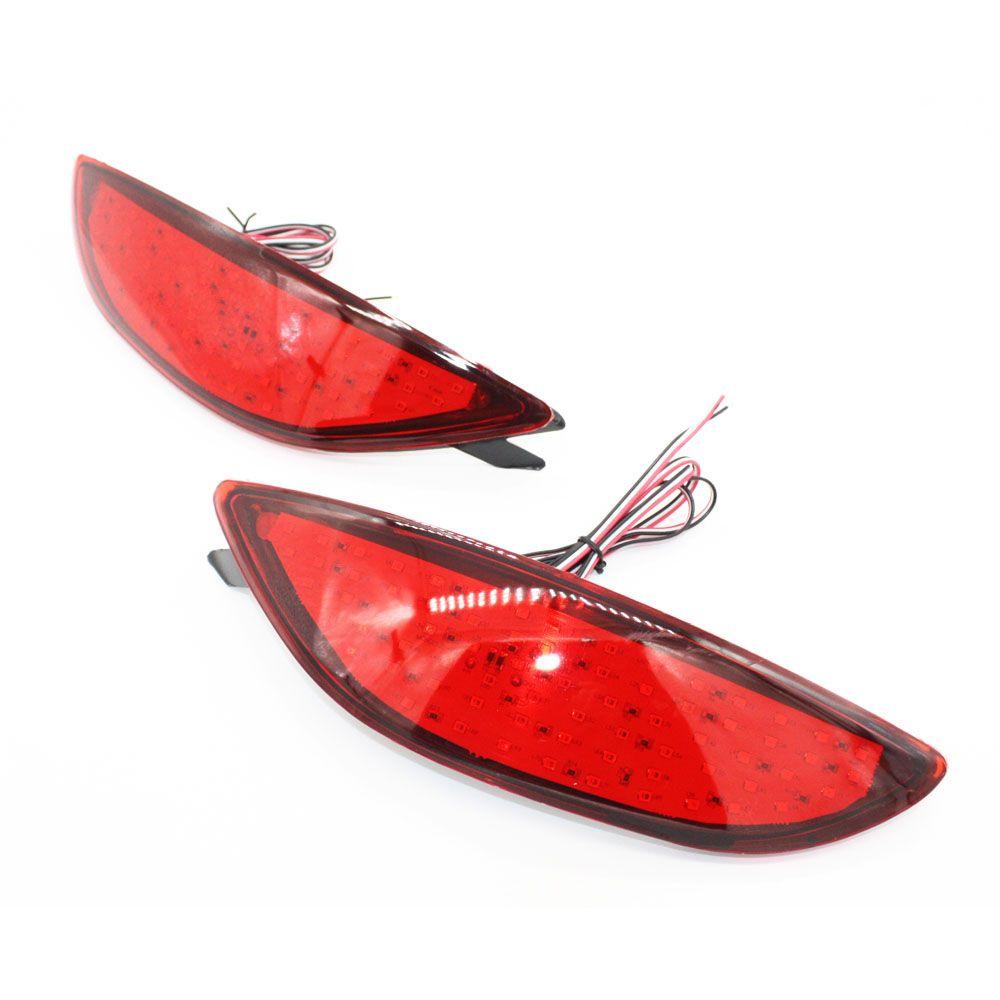 2x lentille Rouge LED pare-chocs Arrière réflecteur lumière queue de frein Parking Avertissement lampe feux de brouillard pour Hyundai Accent Verna Brio 2008-2015