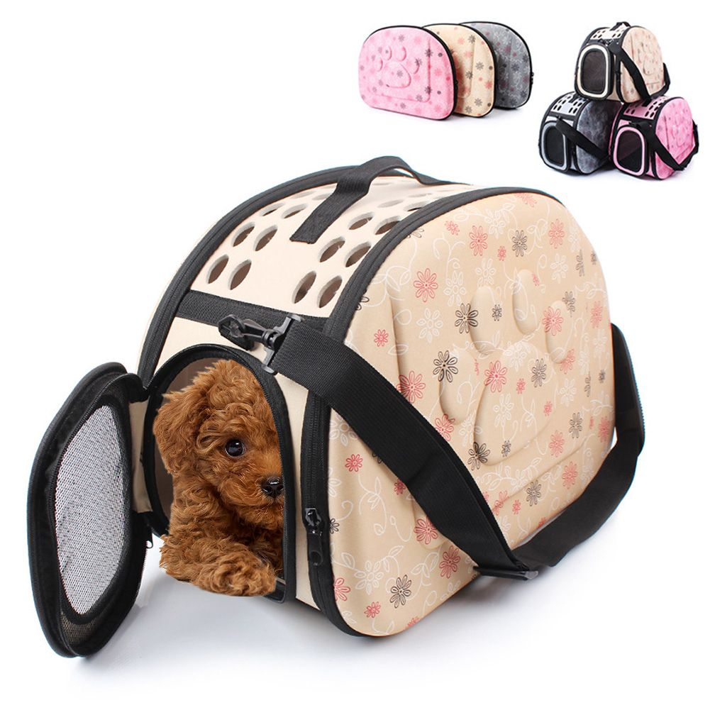Foldable Pet Dog Carrier Puppy Dog Cat Outdoor Travel Shoulder Bags for Small Dog Pets Portable EVA Dog Kennel 3 Colors
