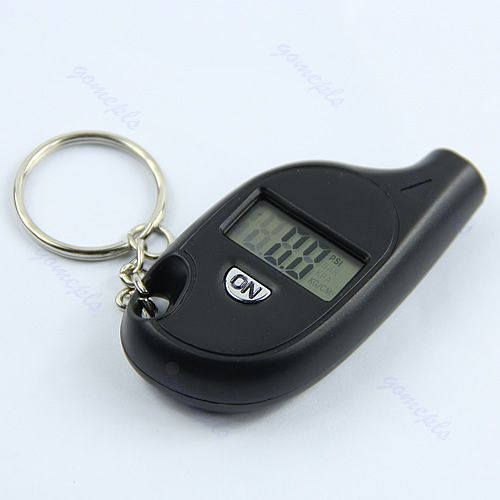 Mini LCD Digital Tire Tyre Keychain Air Pressure Gauge For Car Auto Motorcycle W310
