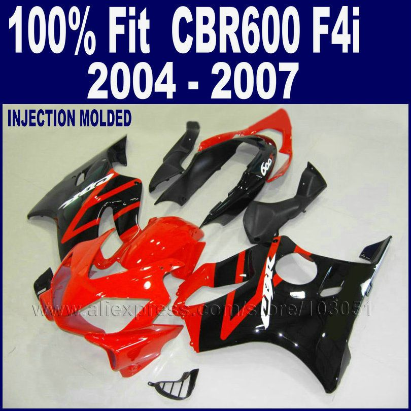 ABS plastic fairings kit for Honda cbr 600 f4i 04 05 06 07 2004 2005 2006 2007 CBR600 F4i body repair parts Injection