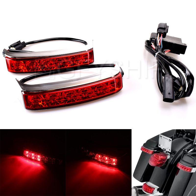 Für Harley Davidson Street Glide Motorrad Teile Original Sattel Box Gepäck Gehäuse Schwanz Run Brems Schalten Licht Lampe LED Len