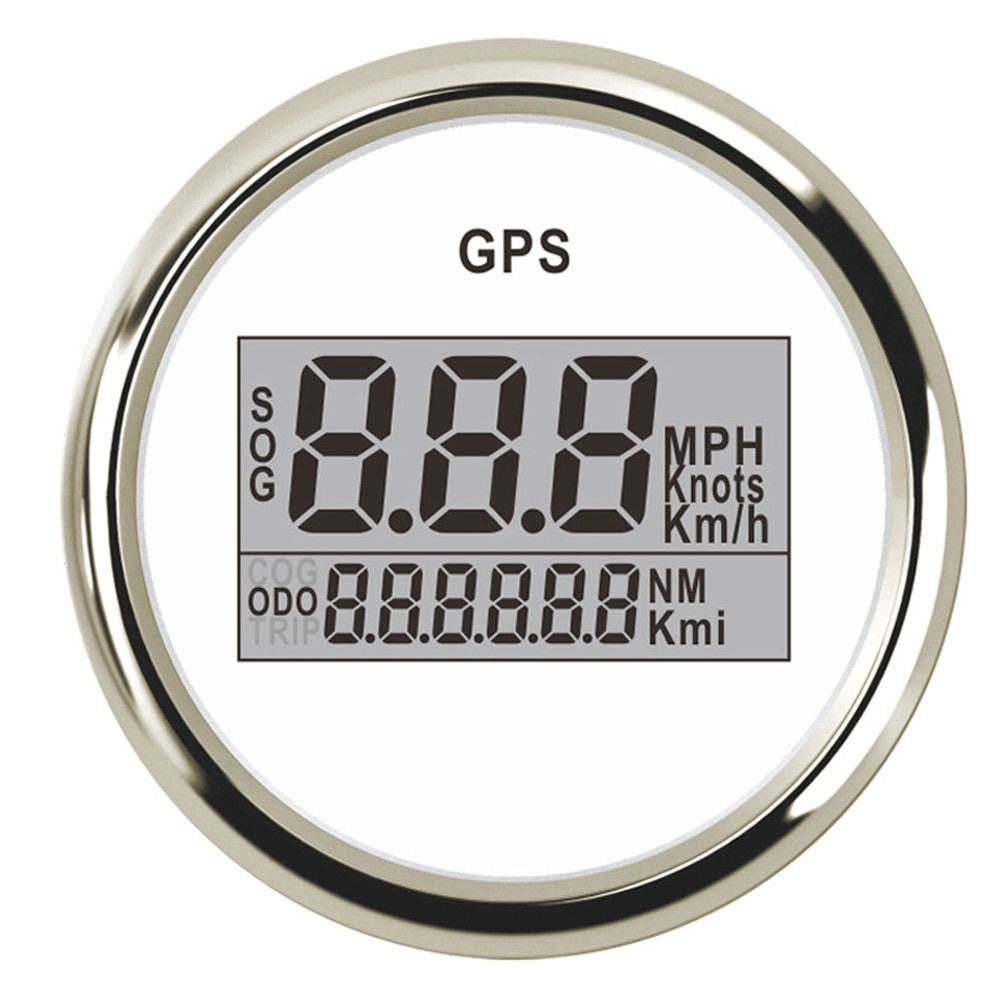 52mm GPS Speedometer Odometer Digital Boat Speedometer Gauge 0~999 knots km/h mph fit Car Boat GPS Speed With Backlight 9~32V