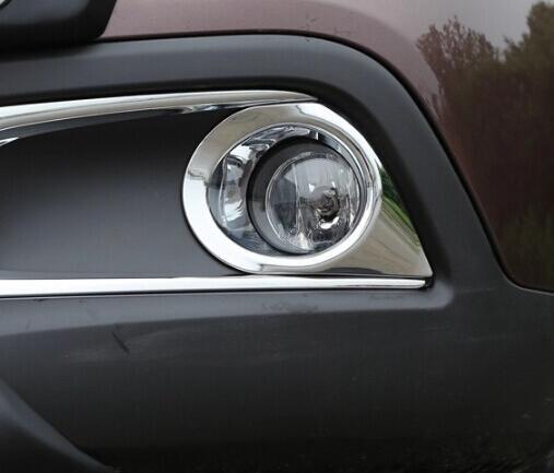 Carmilla 2 pièces/ensemble ABS Chrome voiture avant antibrouillard couverture autocollant pour Peugeot 2008 année 2013 2014 2015 2016 réapprovisionnement Acc.