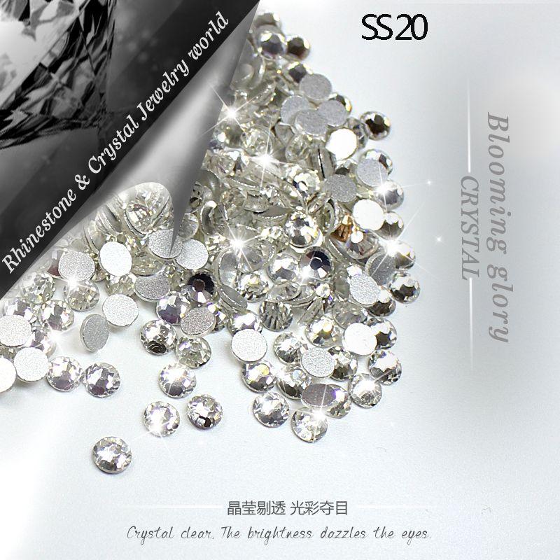 ЦЯО SS20 (4.8-5.0 мм) crystal Clear 1440 шт./упак. 3D Номера исправление горный хрусталь DIY клей на Flatback стразами для Свадебные украшения