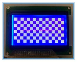 12864 128x64 lcd display STN blue screen ST7920 parallel and serial  SPI 90*73mm