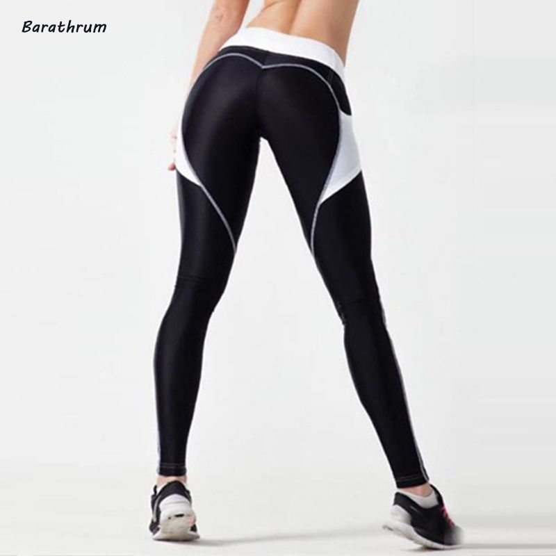 2017 New Fashion Heart Leggings Women Sexy Workout Sporting Pants Breathable Elastic Waist Gyming Exercise Clothing For Women