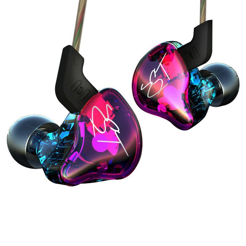 D'origine KZ ZST Coloré BA + DD Dans L'écouteur D'oreille Hybride Casque HIFI Basse Antibruit Écouteurs Avec Mic Remplacé câble AS10