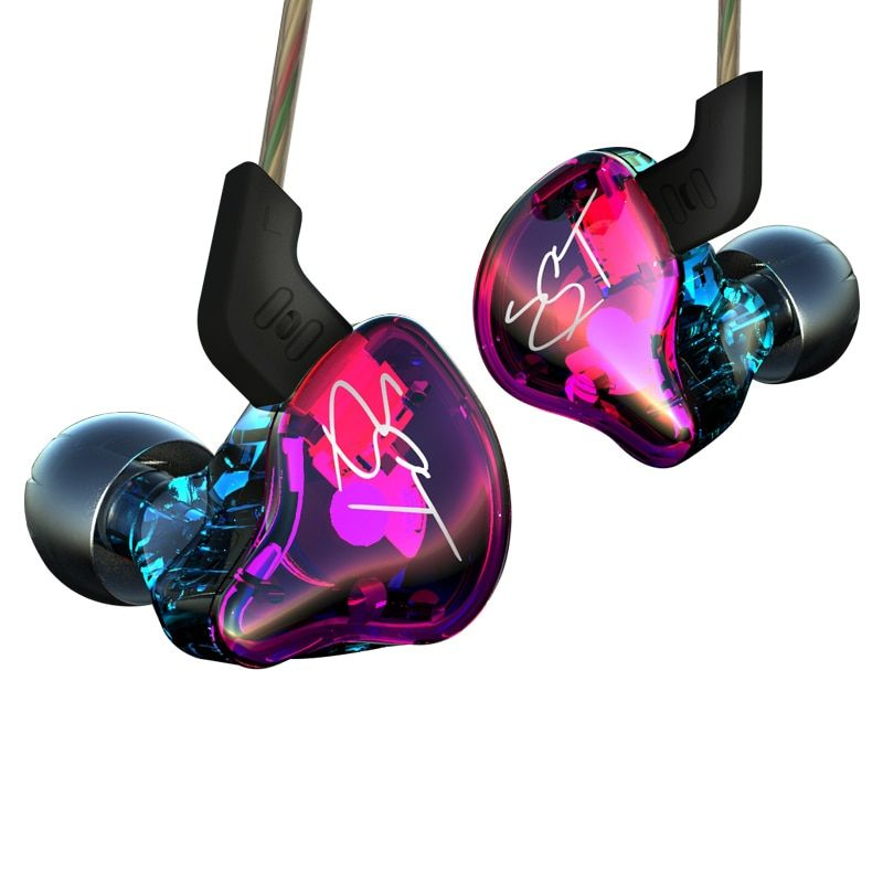 Original KZ ZST Colorful BA+DD In Ear Earphone <font><b>Hybrid</b></font> Headset HIFI Bass Noise Cancelling Earbuds With Mic Replaced Cable
