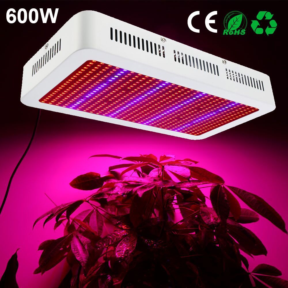 Full Spectrum 600W LED Grow Light Red+Blue+White+UV+IR AC85~265V SMD5730 Led Grow Lamps For Plant Flowering Vegetable