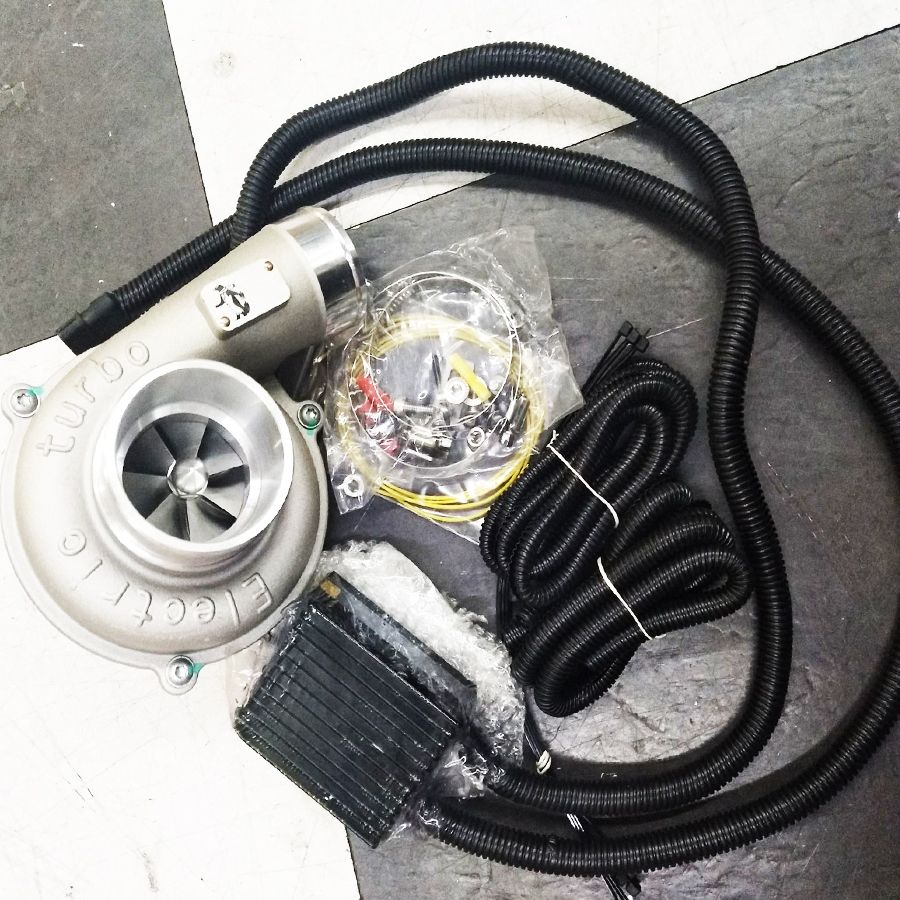 Electric Turbo Supercharger Kit Automatic Speed Regulation High Efficiency and Energy Saving Air Filter Intake Improve Car Speed