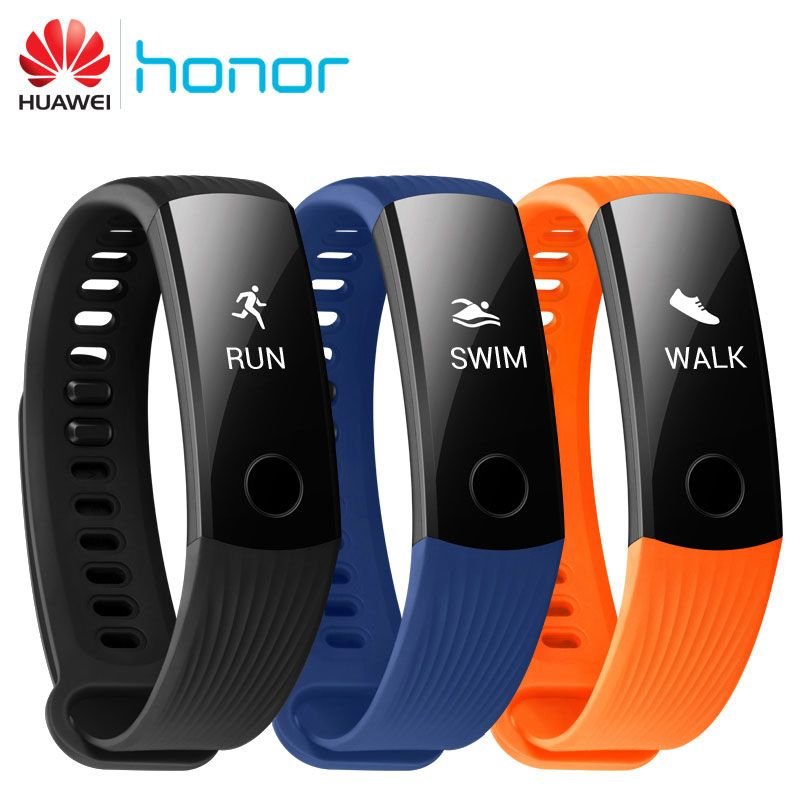 100% Original Huawei Honor Band 3 Swimming Smart Wristband Real-time Heart Rate 5ATM Waterproof Fitness Tracker for Android iOS