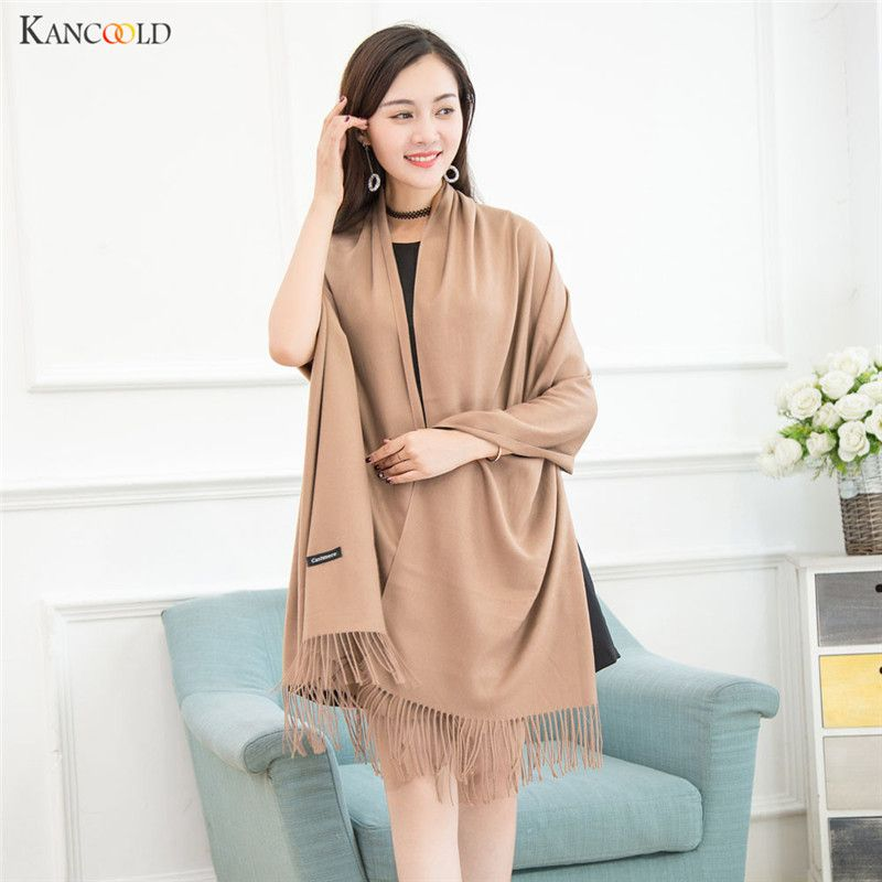 Scarf for Women Solid bufandas mujer 2017 warm scarf women winter scarves shawls stoles Blanket Scarf Female 9 Colors se202